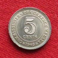 Malaya 5 Cents 1943 KM# 3a Lt 506 Silver  Malaia Malaysia Malasia Malaisie Malaysie - Malesia