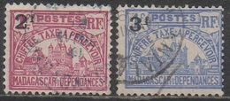 MADAGASCAR  1924__N°18/19__OBL VOIR SCAN - Madagascar (1889-1960)