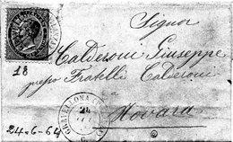 CG4 - Italia - Lettera Da Gravellona  Del 24/6/1864 Per Novara - Italy