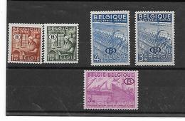 België  Dienst N° 42/46   Xx Postfris  Cote  75,00 Euro - Officials
