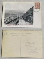 Cartolina Postale Illustrata Per Roma Panorama Del Borgo Maggiore - Anno 1900 - San Marino