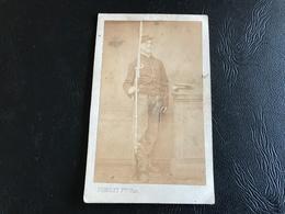 Photo Soldat 1870 Chassepot & Baionnette - PIGNOLET FRERES PARIS - Guerre, Militaire