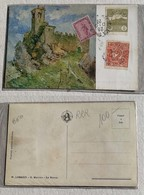 Cartolina Illustrata La Rocca - 28/12/1923 - San Marino