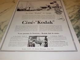 ANCIENNE   PUBLICITE CINE KODAK 1927 - Autres