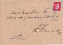 ALLEMAGNE 1943 POST OSTLAND LETTRE DE WINDAU POUR RIGA - Occupation 1938-45