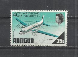 ANTIGUA 1970 - ANNIVERSARY OF AIRMAIL SERVICE - USED OBLITERE GESTEMPELT USADO - Avions