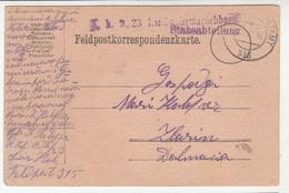 Austria WWI Feldpost Postcard Posted 1917 K.k. 9./23 Landwehrmarschbaon Stabsabteilung FP315 To Zlarin B200110 - Croatia