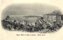 Monaco - Monté-Carlo - Royal Hotel Et Hotel De Rome - D 2252 - Monte-Carlo