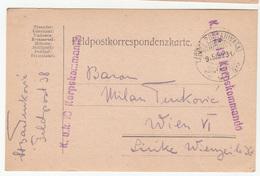 Hungary WWI Feldpost Postcard Posted 1915 K.u.K. Korpskommando FP38 To Wien B200110 - Hungary