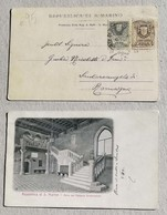 Cartolina Illustrata Atrio Del Palazzo Governativo - Saint-Marin