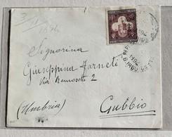 Busta Di Lettera Per Gubbio - Anno 1894 - Lettres & Documents