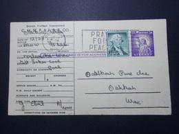 Marcophilie  - USA - Carte Entier Postale Timbre Perforé STP (2607) - Vereinigte Staaten