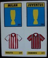 Figurina Micro Calcio Vallardi 90-91 Juventus Milan Barletta Cremonese Numero 10 - Altri