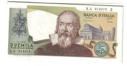 2000 LIRE GALILEO GALILEI  SERIE 1983 FDS DA MAZZETTA LOTTO 1140 - [ 2] 1946-… : Républic
