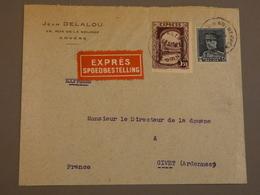 ENVELOPPE BELGE DE ANVERS  A LA DOUANE DE GIVET ARDENNES. 1932. - Belgien