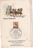 BOHEME ET MORAVIE 1942 CARTE SOUVENIR DE PRAHA - Lettres & Documents