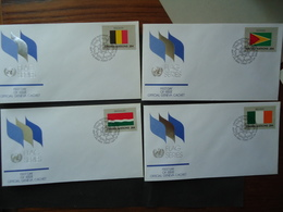 UNITED NATIONS DIFFERENT 4 FDC FLAG FLAGS - Buste