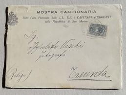 Lettera Mostra Campionaria Per Trecenta - Arrivata Il 21/10/1923 - Saint-Marin