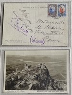 Cartolina Illustrata Panorama Della Città - 20/02/1933 - San Marino