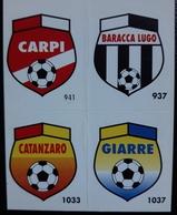Figurina Micro Calcio Vallardi 90-91 Scudetti Carpi Baracca Lugo Catanzaro Giarre - Altri