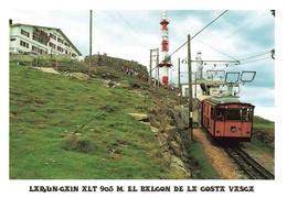 Train Gare De Larun Gain Funiculaire Petit Train Au Sommet Funicular La Rhune - Gares - Avec Trains