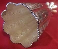 Periodo Della Dinastia Qajar Persia 1800-900 -Vaso In Argento ,incisioni Interamente A Mano - Argenteria