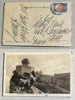 Cartolina Illustrata Ingresso Alla Seconda Torre - Anno 1933 - Saint-Marin