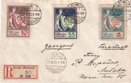 LETTONIE 1920 LETTRE RECOMMANDEE DE GROBINA - Lettonie
