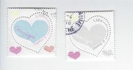 Saint-valentin Coeur Courrèges 5024-5025 Oblitérés 2016 - Used Stamps