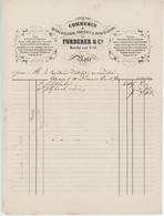 Commerce De Quincaillerie, Cristaux & Porcelaines De Furderer & Cie Sélestat 1870 - Francia