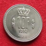 Luxembourg 10 Francs 1972 KM# 57 *V2 Luxemburgo Luxemburg - Luxembourg