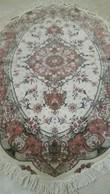Persia-Iran- Tappeto Persiano Tabriz 60 Raj,OVALE,Lana Kurk+seta Extra Fine,Tabriz Persian Carpet Oval - Tapis & Tapisserie