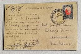 Cartolina Illustrata Per Salerno II Palazzo Governativo - Anno 1932 - Saint-Marin