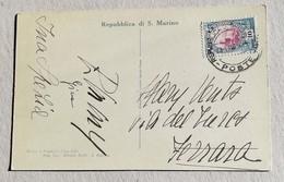 Cartolina Illustrata Per Ferrara La Seconda Torre - Anno 1933 - Saint-Marin