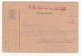 Austria WWI Feldpost Postcard Posted 1918 Kr. Ug. VI/28. Puč.ust. Stapni Baon FP486 To Šeberjak B200110 - Slovenia