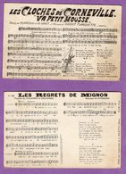 Partition De Musique Chanson Et Parole En Carte Postale Le Lot De 8 Cartes - - Musique