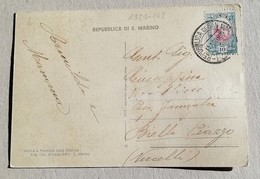 Cartolina Illustrata Per Biella La Rocca E La Città - Anno 1939 - Saint-Marin