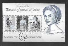Monaco 2019 - Yv N° F3194 ** - Bloc 90 Ans De La Princesse Grace (timbres 3194 à 3196) - Ongebruikt