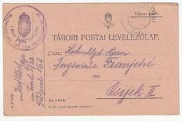 Hungary WWI Feldpost Postcard Posted 1917 Kr. Ug. Osiječki 28 Puč. Ust. Bataljun FP268 To Osijek B200110 - Croatia