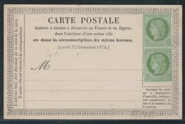 France -   Sur Carte 1 Paire Céres  (1872 )  N°53 - Biglietto Postale