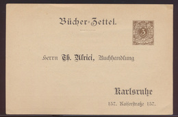 D. Reich Mode Privatganzsache PP8 B13023 Bücherzettel Reklame Alrici Karlsruhe - Deutschland