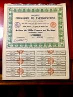 Sté FIDUCIAIRE  De  PARTICIPATIONS  -------- Action  De  1.000 Frs - Acciones & Títulos