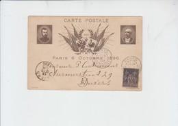 VISITE DU Tsar NICOLAS II ,PARIS 6 OCTOBRE 1896 - POUR ANVERS - 15/10/1896 - Pseudo-interi Di Produzione Privata