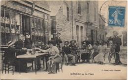 56 MENEAC  - La Place (très Animée TOP Et Rare) - Frankreich