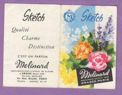 Petit Calendrier Annee 1962 Parfum Molinard à Grasse - Boutique 21 Rue Royal Paris - 6 Cm Par 9 Cm - Sketch - - Autres
