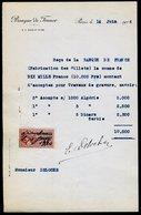 Numismatique - Autographe D'Ernest Pierre DELOCHE (1861-1950) - Graveur De 3 Billets - ALGERIE - ALGERIE - SERBIE - Banconote