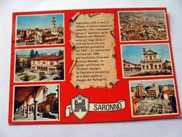 (FG.V22) SARONNO - VEDUTE VEDUTINE (VARESE) Viaggiata - Varese