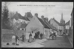 CPA 28 - Senonches, La Rue De Launay Et Le Vieux Château - France