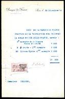 Numismatique - Autographe D'Ernest Pierre DELOCHE (1861-1950) - Graveur De 3 Billets - SERBIE - SYRIE - Banconote
