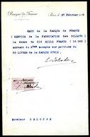 Numismatique - Autographe D'Ernest Pierre DELOCHE (1861-1950) - Graveur D'un Billet - SYRIE - Banconote